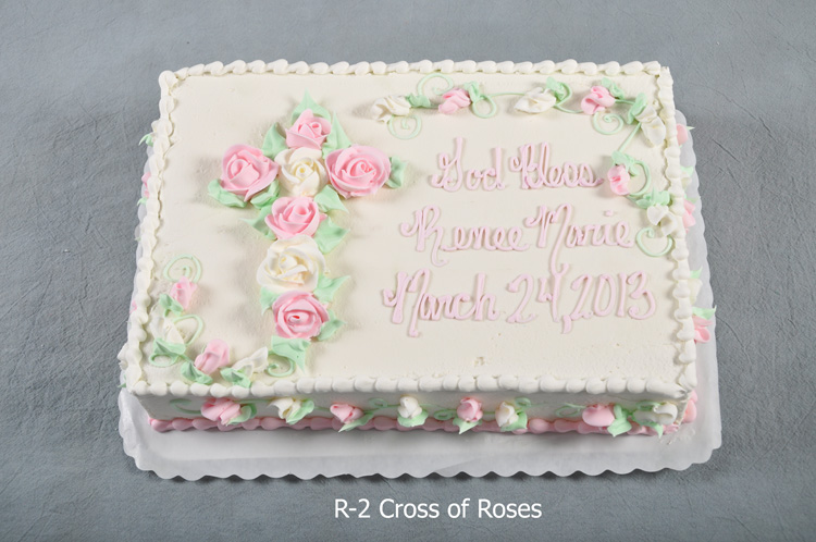 Baptism Sheet Cake with Cross