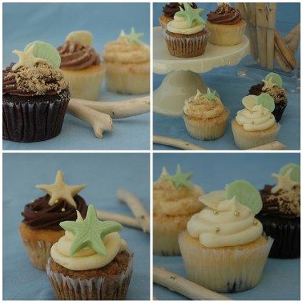 Beach Theme Wedding Cake Cupcake Ideas