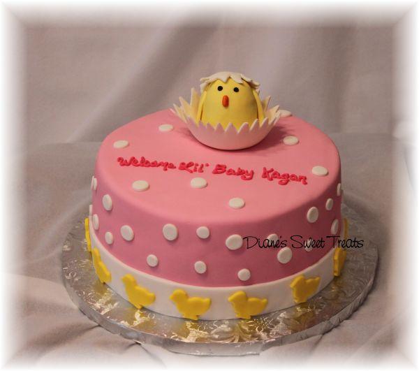 Chick Baby Shower Cake