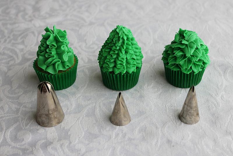 Christmas Tree Mini Cupcakes