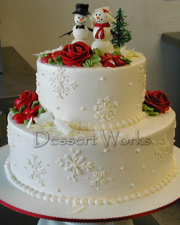 Christmas Wedding Cakes Ideas