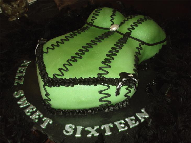 Corset Bachelorette Cake