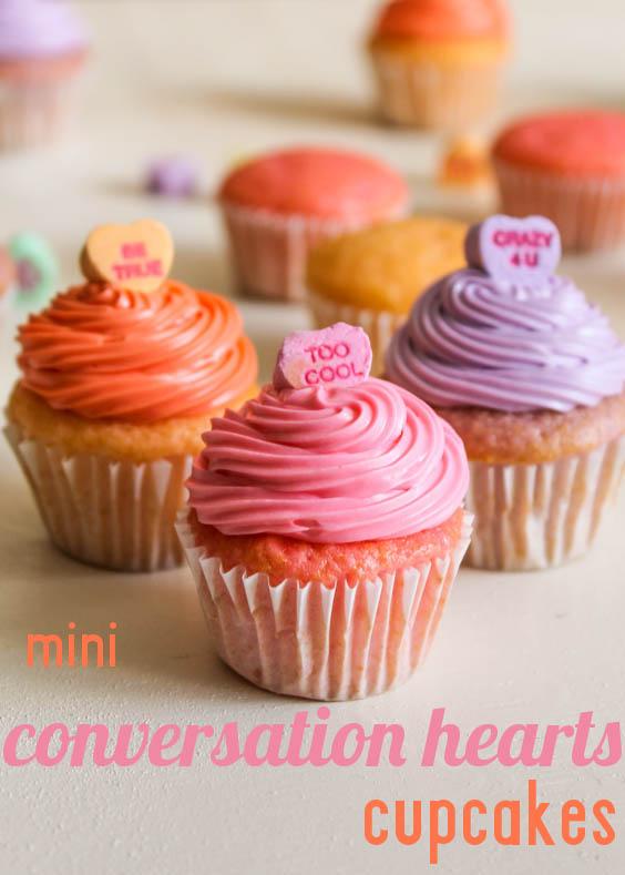 Cupcake Valentine's Day Conversation Heart