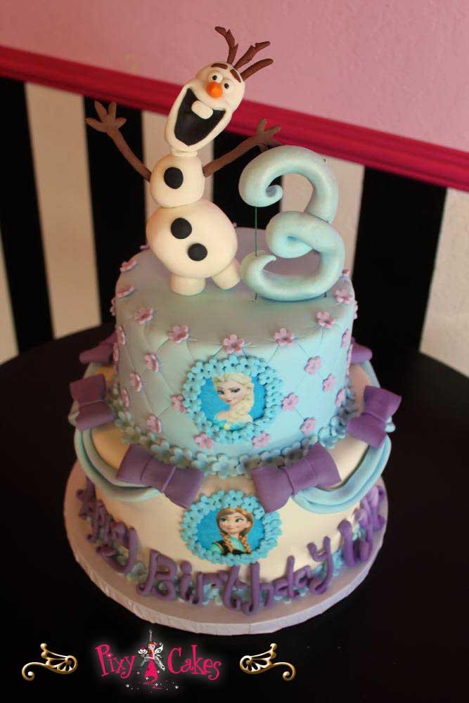 13 Photos of Purple Disney Frozen Cakes