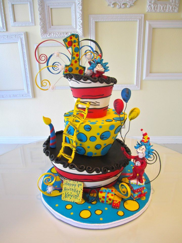 Remarkable 12 Dr Suess Theme 1St Birthday Cakes Photo Dr Seuss Birthday Funny Birthday Cards Online Alyptdamsfinfo