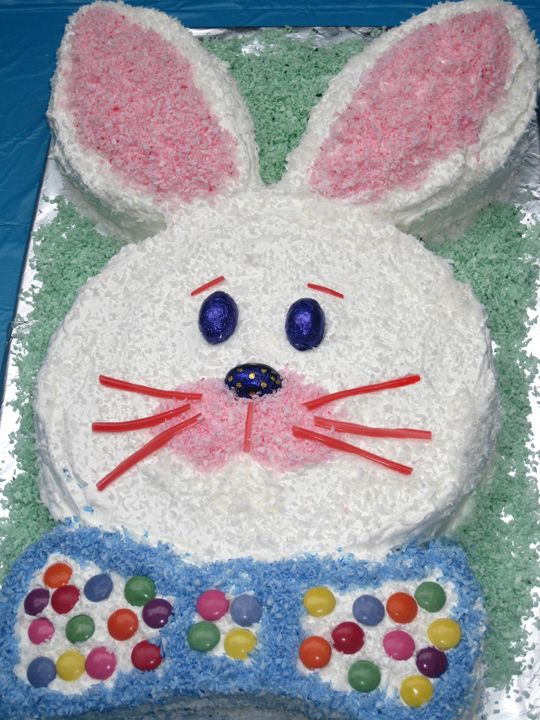 Easter Bunny Cake Cut Out