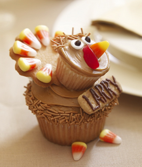 Easy Thanksgiving Cupcake Decorating Ideas