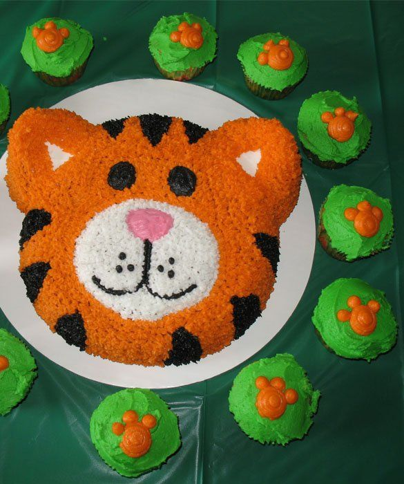 Easy Tiger Birthday Cake