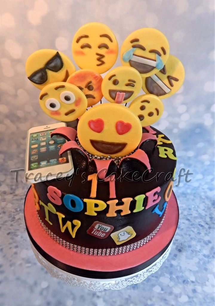 6 Cute Cakes For Girls Emojis Photo Emoji Birthday Cake