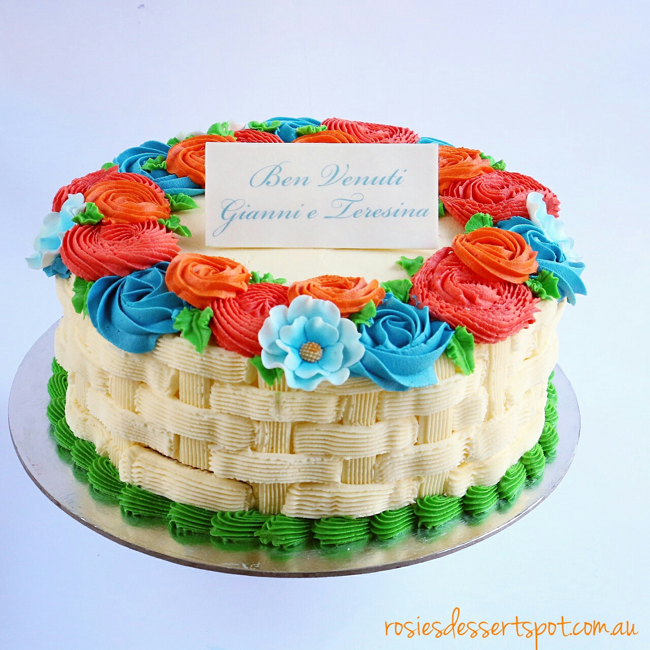Flower Birthday Cake Buttercream