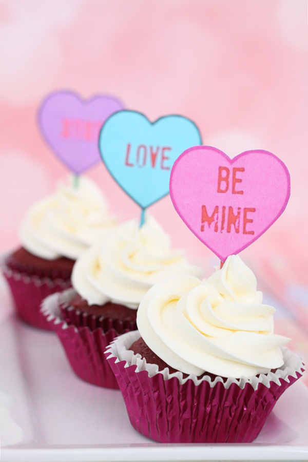 Free Printable Conversation Heart Valentine's