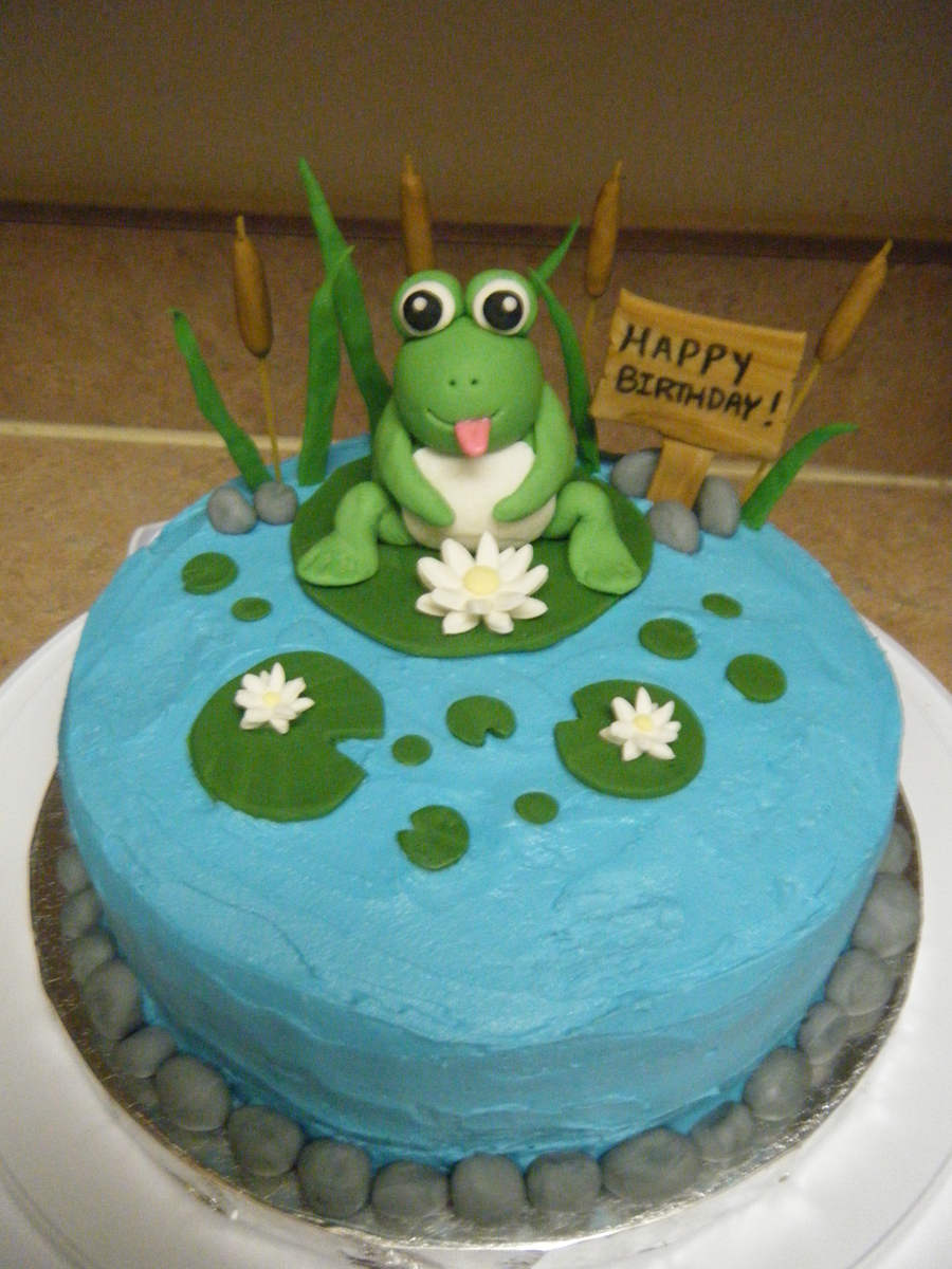 Frog Pond Birthday Cake