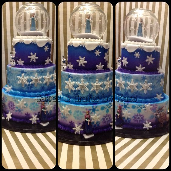 Frozen Blue and Purple Cake