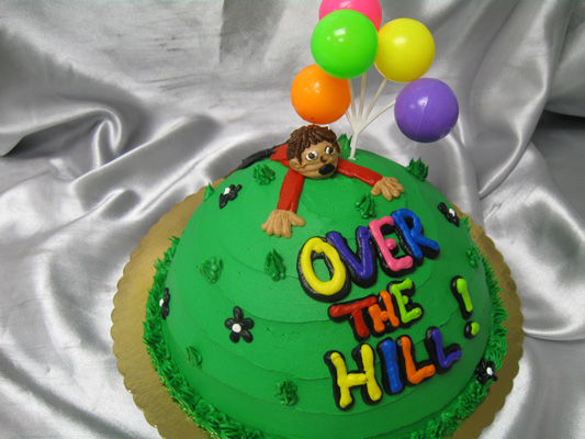 Funny Over the Hill Birthday Cakes for Men