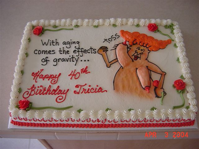 Funny Over the Hill Birthday Cakes