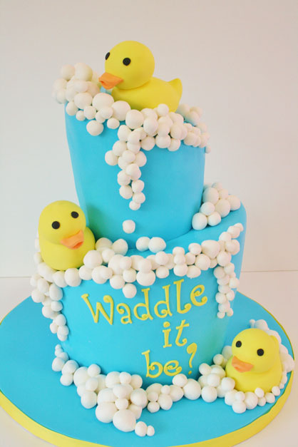 Gender Reveal Baby Shower Cake