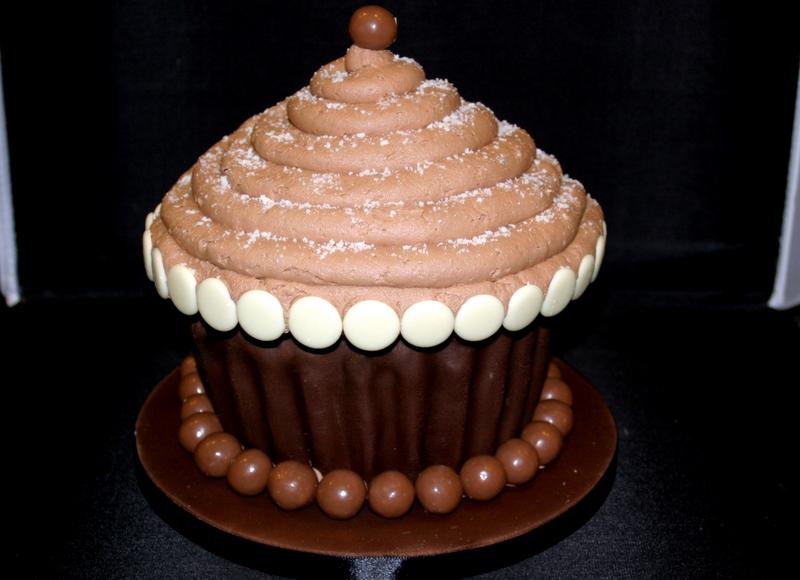 8 Photos of Giant Chocolate Fudge Cupcakes