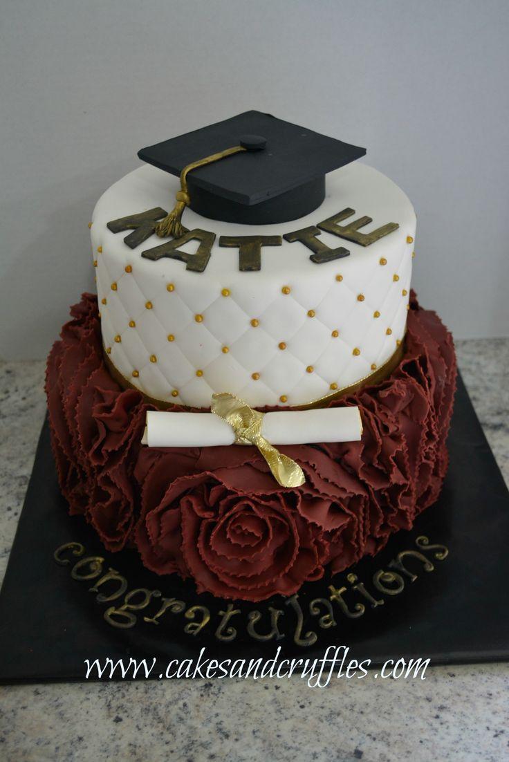 Graduation Cake with Fondant