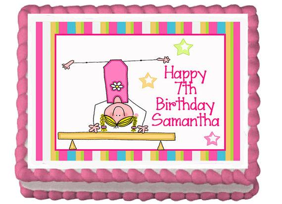 Gymnastic Birthday Sheet Cakes