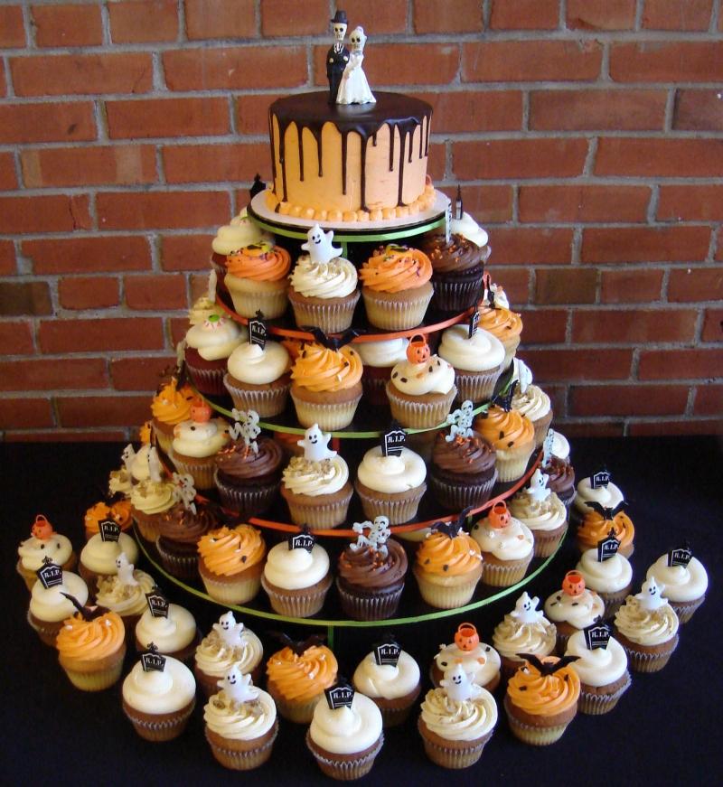 Halloween Wedding Cupcakes