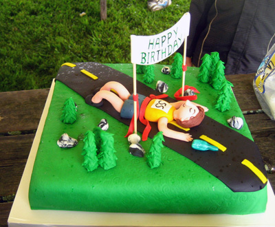 Happy Birthday Runner Cake