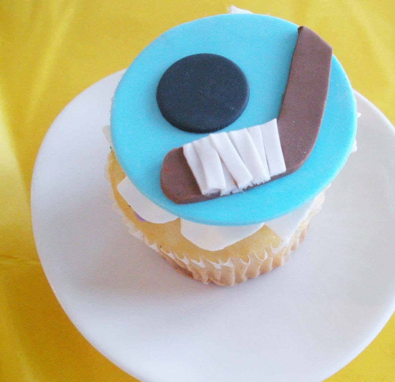 Hockey Cupcake Toppers Fondant