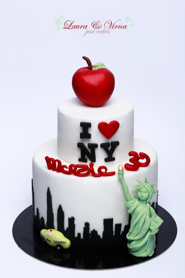 I Love New York Birthday Cake