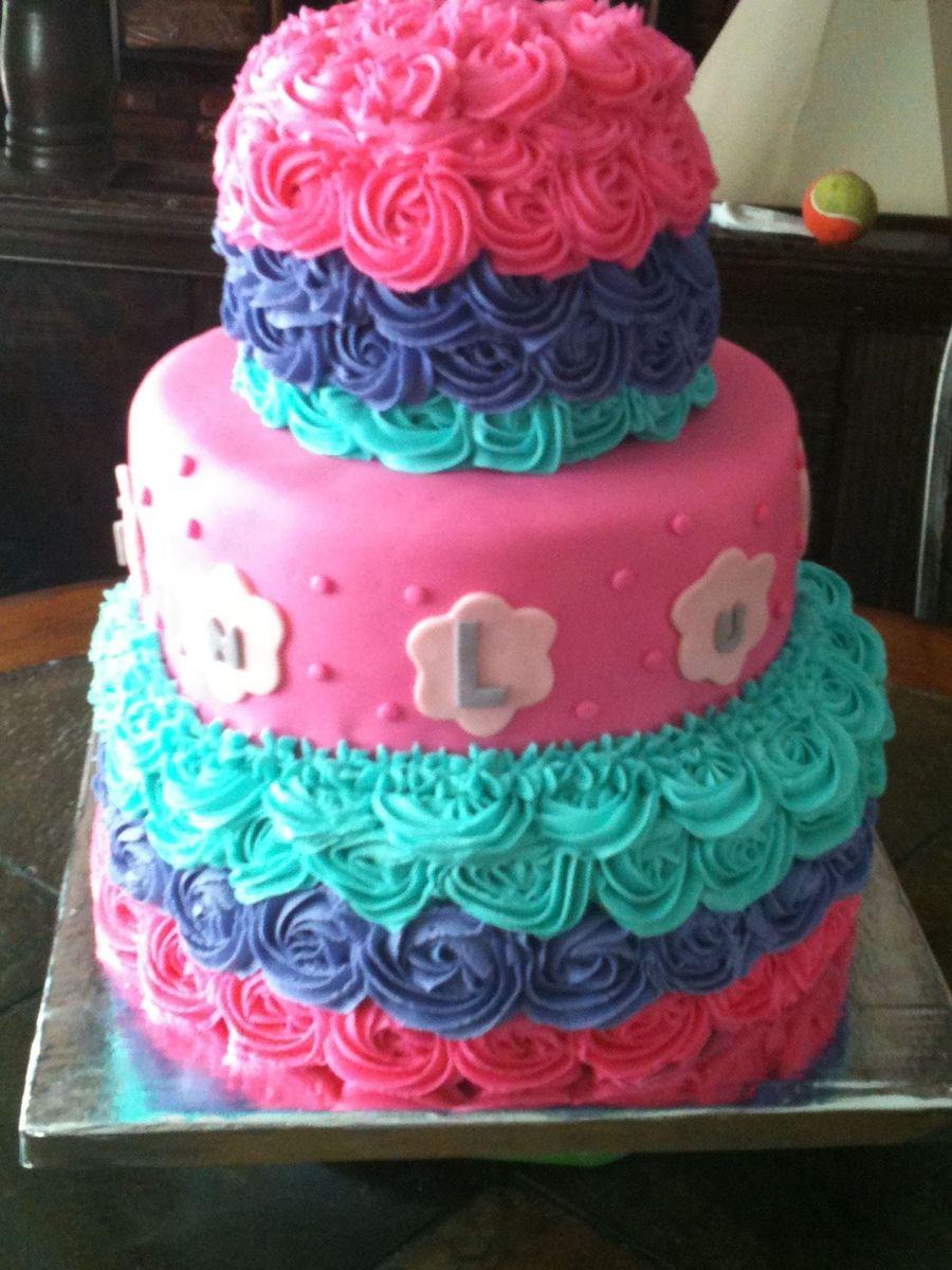 Surprising 10 Little Purple Girl Birthday Cakes Photo Girly Girl Birthday Funny Birthday Cards Online Elaedamsfinfo