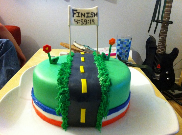 Marathon Runner Birthday Cake