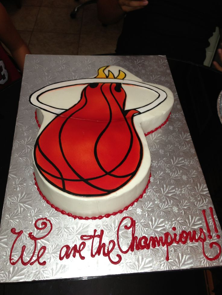 Miami Heat Birthday Cake