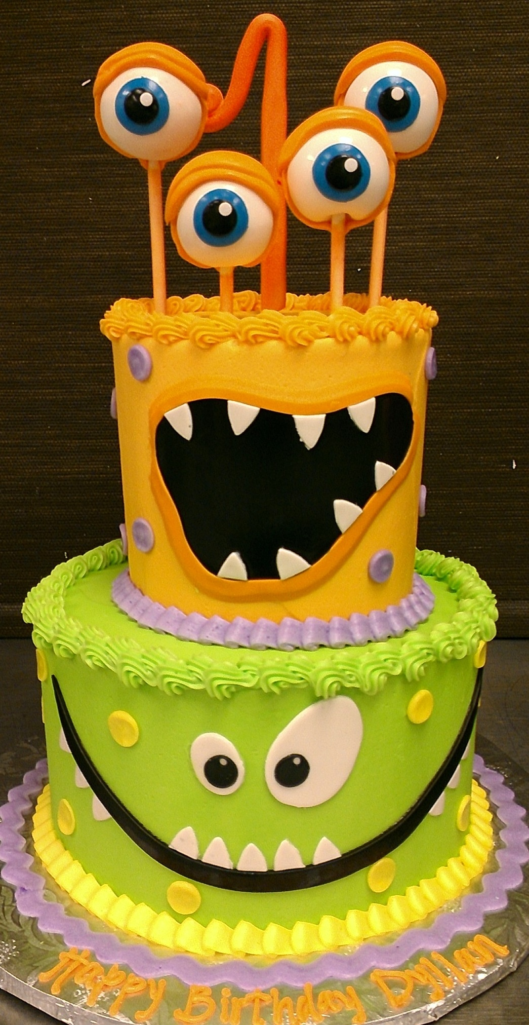 12 Monster Inc Birthday Cakes And Cupcakes For 2 Years Old Boy Photo