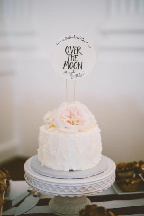 One Tier Wedding Cakes