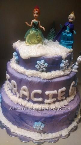Purple Birthday Cake Frozen