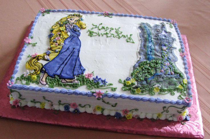 Rapunzel Castle Cake Sheet
