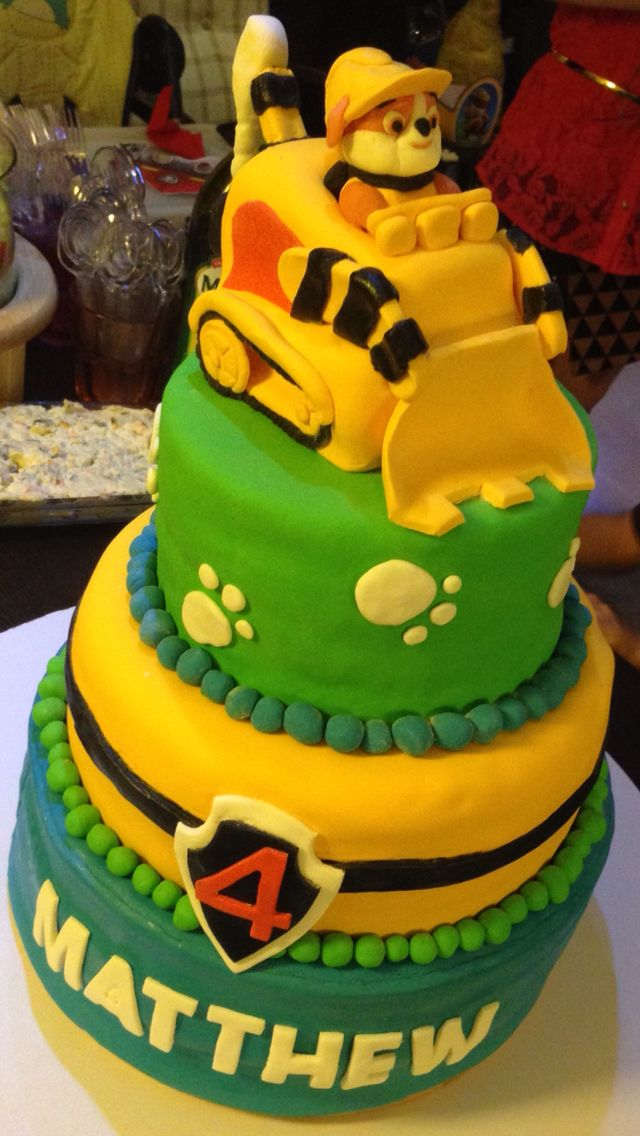 9 Photos of Rubble PAW Patrol Sheet Cakes
