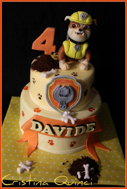 Rubble PAW Patrol Birthday Cake