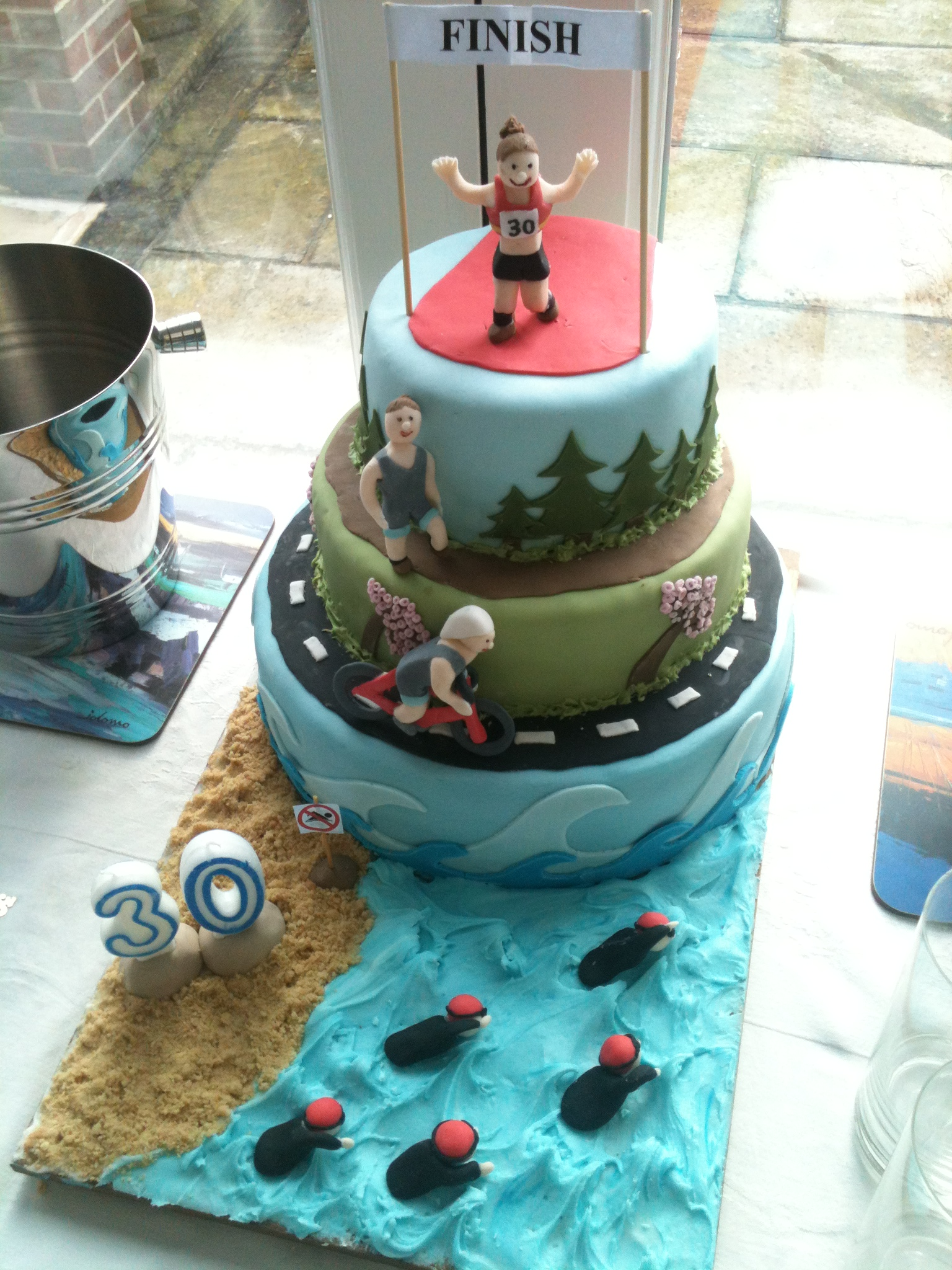 Running Themed Birthday Cake