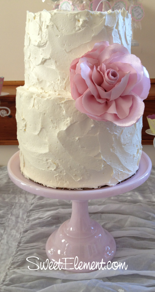 Shabby Chic Wedding Cake Buttercream