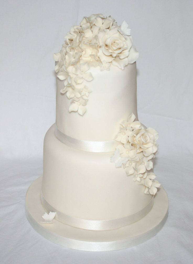 Simple 2 Tier Wedding Cakes