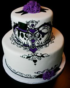 Skull Wedding Cakes Ideas