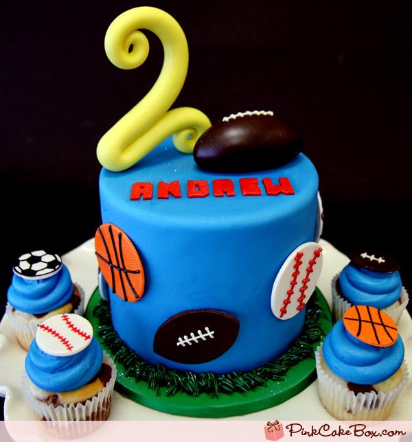 Sports Cupcake Birthday Cakes