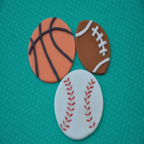 Sports Fondant Cupcake Toppers