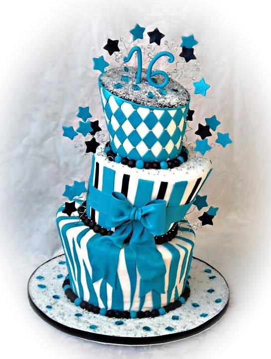 Sweet 16 Boy Birthday Cake