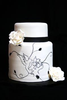Tall Elegant Birthday Cake