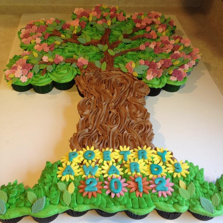 Tree Cupcake Cake