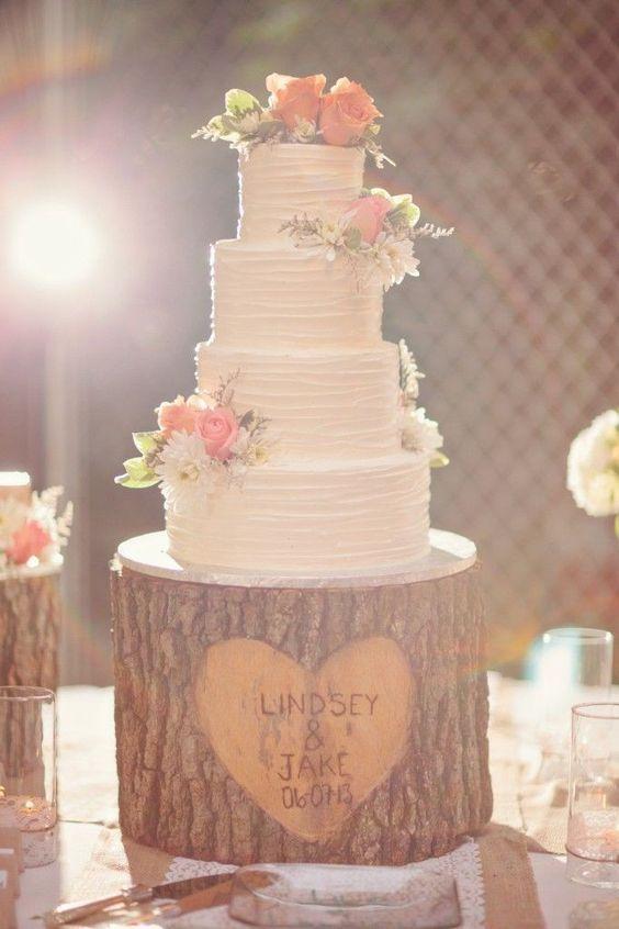 Tree Stump Cake Stand