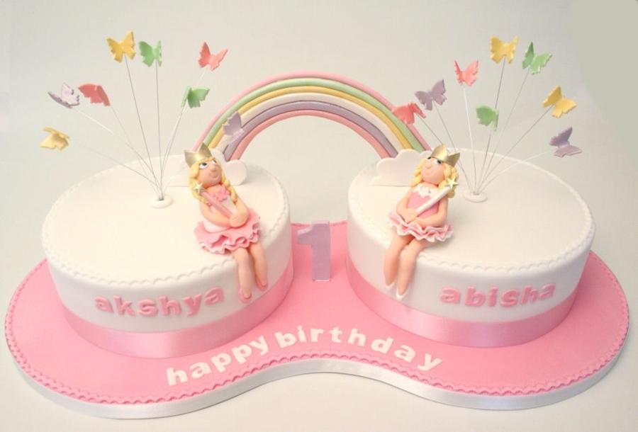 Awe Inspiring 10 Twin Birthday Cakes For Girls 1St Birthday Photo Twin Girls Funny Birthday Cards Online Hetedamsfinfo