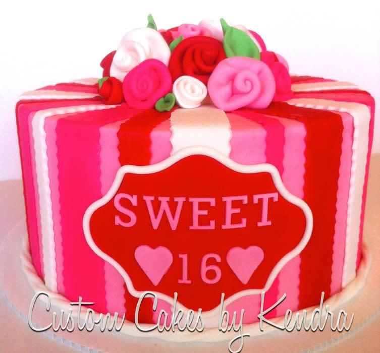 Valentine's Sweet 16 Cakes