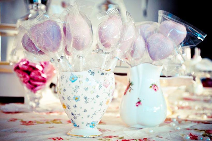 Vintage Bridal Shower Cake Pops