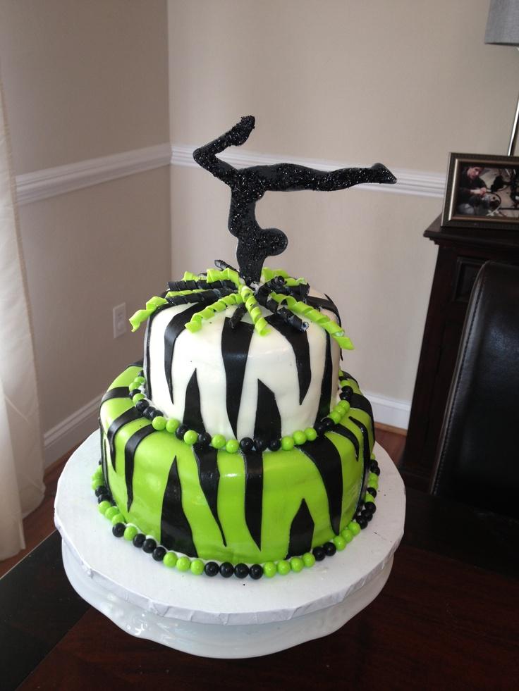 Zebra Gymnastics Cake